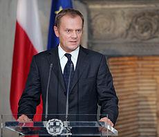 Il Primo Ministro polacco, Donald Tusk