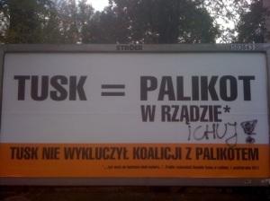 Cartelli della campagna elettorale polacca