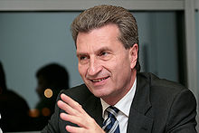 Il Commissario UE all'Energia, Gunther Oettinger