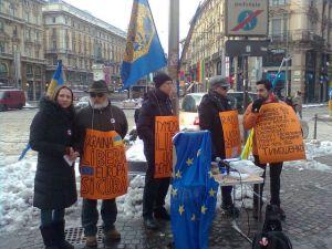 La manifestazione di Milano del 4 Febbraio 2012 per la liberazione di Julija Tymoshenko e la democrazia in Ucraina