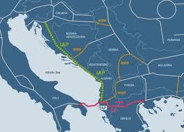 Il percorso del Gasdotto Ionico Adriatico