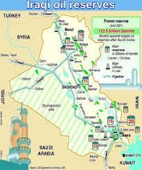 I giacimenti di greggio in Iraq