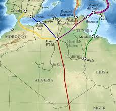 Il percorso del Medgaz e del Gasdotto Trans Mediterraneo
