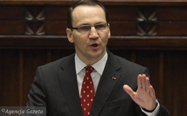 Il Ministro egli Esteri polacco, Radoslaw Sikorski. PHOTO COURTESY OF GAZETA WYBORCZA